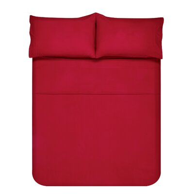 Sariah Super Soft 4 Piece Sheet Set Color: Garnet