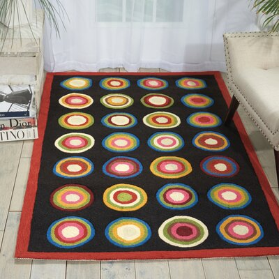 Frieda Black Rug Rug Size: 36 x 56