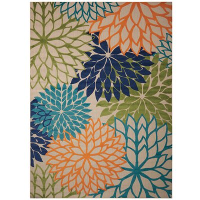 Nathalie Cream Indoor/Outdoor Area Rug Rug Size: 710 x 105