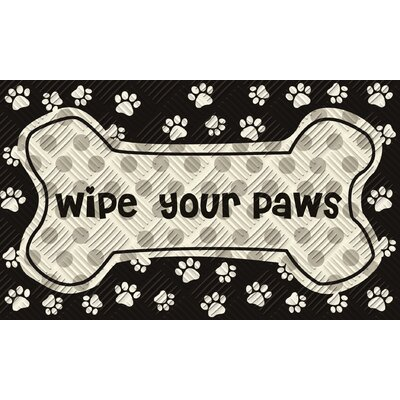 Little Wipe Your Paws Embossed Mat