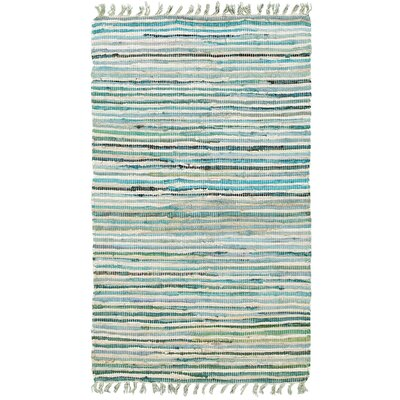 Harris Hand-Woven Blue Area Rug Rug Size: 26 x 42