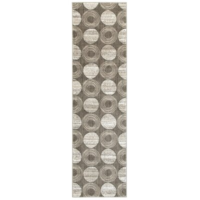Gray Circles Area Rug Rug Size: Runner 2 x 77