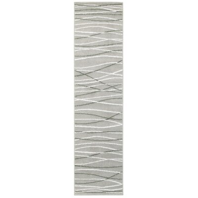 Penelope Grey/white/black Area Rug Rug Size: Runner 2 x 77