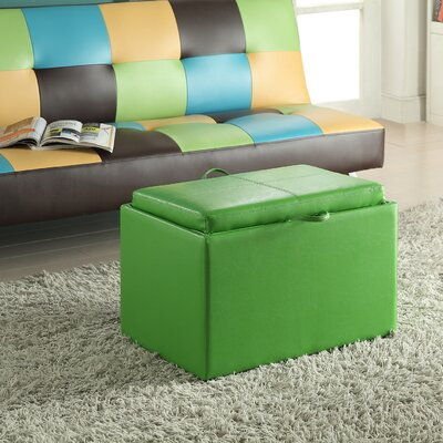 Marla Accent Storage Ottoman Upholstery: Green