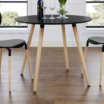 Monaco Large Dining Table Top Finish: Black