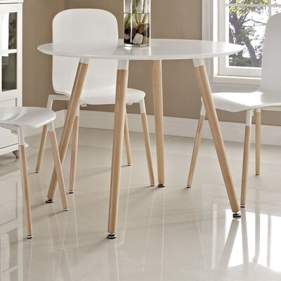 Monaco Large Dining Table Top Finish: White