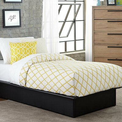 Armani Upholstered Platform Bed Size: Full, Color: Black
