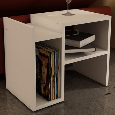 Capucine End Table Color: White