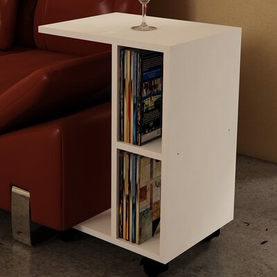 Raquel End Table Color: White