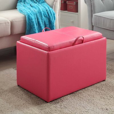Marla Accent Storage Ottoman Upholstery: Pink