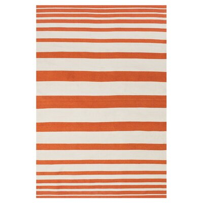 Mckayla Indoor/Outdoor Area Rug in Orange Rug Size: Rectangle 8 x 11