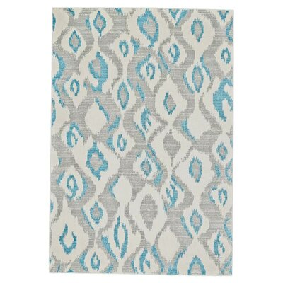 Arely Gray/Blue Area Rug Rug Size: Recatangle 18 x 210