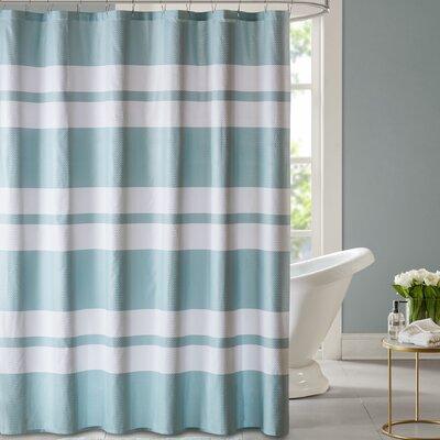 Blair Printed Shower Curtain Color: Seafoam