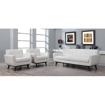 Amber 2 Piece Living Room Set Upholstery: Beige