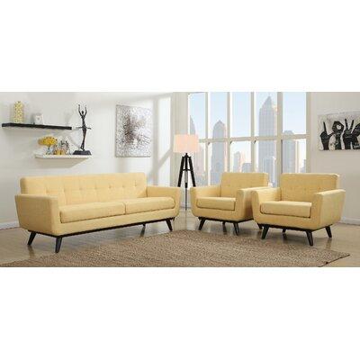 Amber Linen Living Room Set Upholstery: Mustard