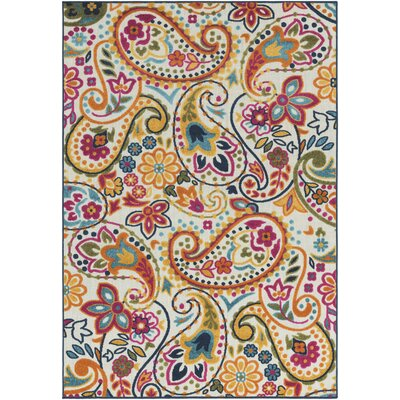 Dorinda Yellow/Pink Indoor/Outdoor Area Rug Rug Size: 5 3 x 7 3