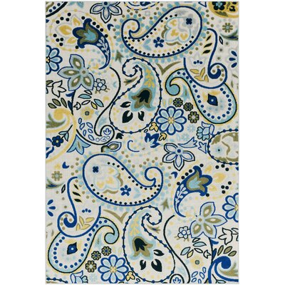 Dorinda Blue/Gray Paisley Indoor/Outdoor Area Rug Rug Size: 5 3 x 7 3