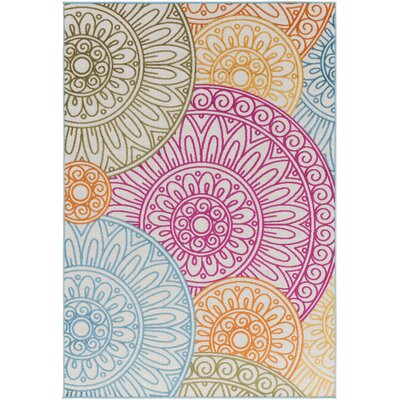 Jolene Pink/Orange Indoor/Outdoor Area Rug Rug Size: 2 x 3