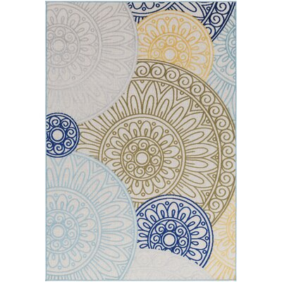 Dorinda Green/Blue Indoor/Outdoor Area Rug Rug Size: 5 3 x 7 3