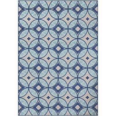 Dorinda Blue/Gray Indoor/Outdoor Area Rug Rug Size: 5 3 x 7 3