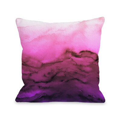 Alena Winter Waves Ombre Throw Pillow Size: 18 H x18 W x 3 D, Color: Fuchsia