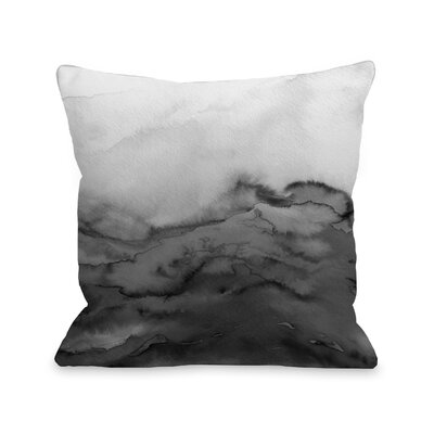 Alena Winter Waves Ombre Throw Pillow Size: 18 H x18 W x 3 D, Color: Gray
