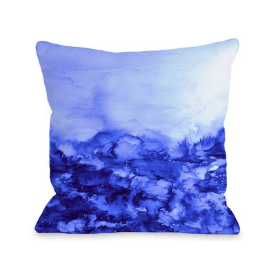 Averi Into Eternity by Julia Di Sano Throw Pillow Size: 18 H x18 W x 3 D, Color: Indigo Blue