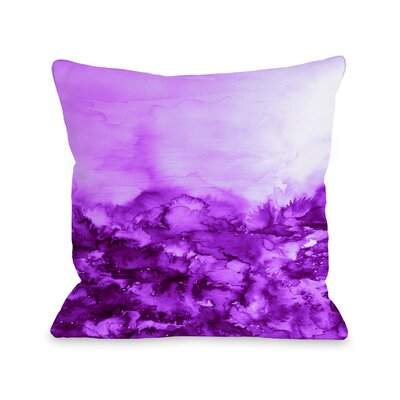 Averi Into Eternity by Julia Di Sano Throw Pillow Size: 18 H x18 W x 3 D, Color: Purple