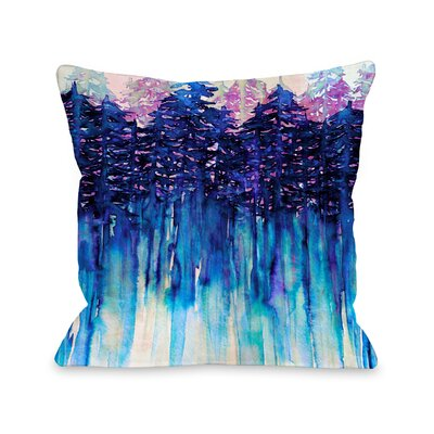 Demi Northwest Vibes Throw Pillow Size: 16 H x16 W x 3 D, Color: Blue