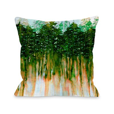 Demi Northwest Vibes Throw Pillow Size: 18 H x18 W x 3 D, Color: Green