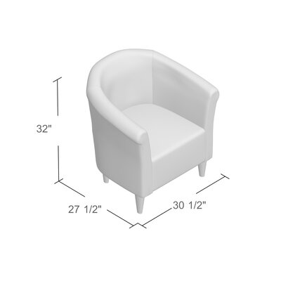 Liam Barrel Chair Upholstery: Silver