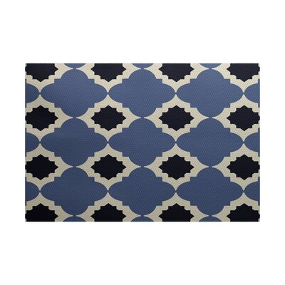 McGuinness Geometric Print Navy Blue Indoor/Outdoor Area Rug Rug Size: Rectangle 3 x 5