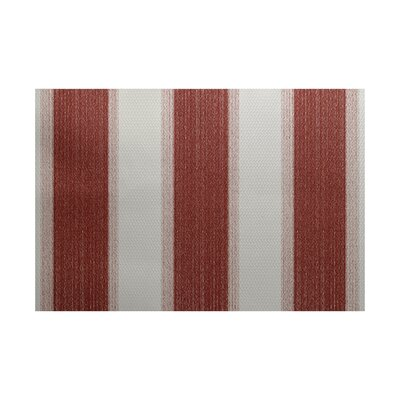 Wobana Stripe Print Orange Indoor/Outdoor Area Rug Rug Size: 3 x 5