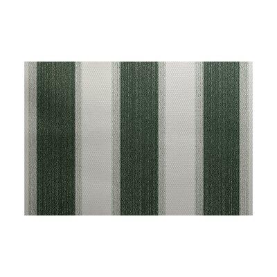 Wobana Stripe Print Green Indoor/Outdoor Area Rug Rug Size: 3 x 5