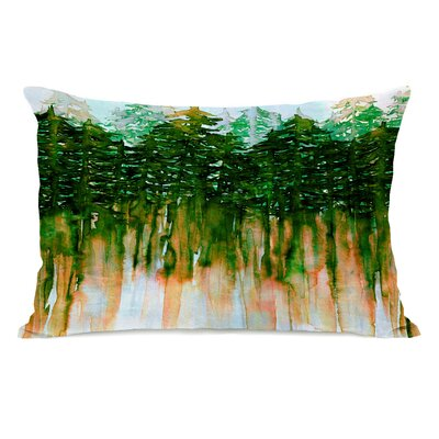 Kailee Lumbar Pillow Color: Green