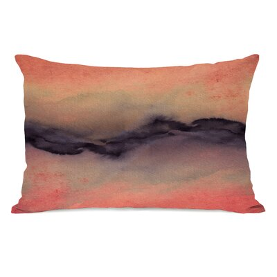 Rayna Golden Lumbar Pillow Color: Gold/Violet