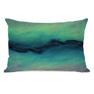 Rayna Golden Lumbar Pillow Color: Indigo/Teal