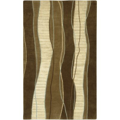 Hierius Brown Area Rug Rug Size: 5 x 8