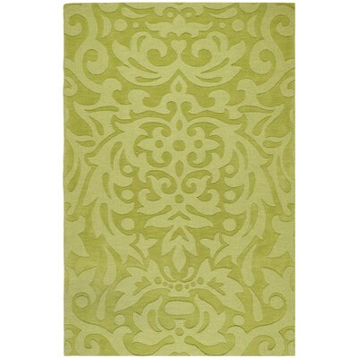 Dorthea Lime Green Floral Area Rug Rug Size: 33 x 53