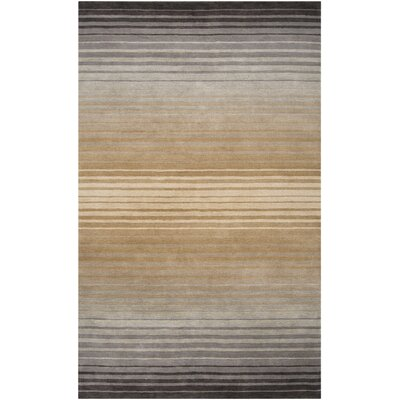 Laurette Taupe Area Rug Rug Size: Rectangle 5 x 8