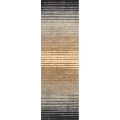 Laurette Taupe Area Rug Rug Size: Runner 26 x 8