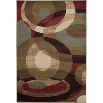 Douglasland Caramel & Tea Leaves Area Rug Rug Size: Rectangle 53 x 76