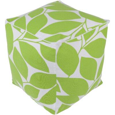 Deana Pouf Ottoman Upholstery: Green/White