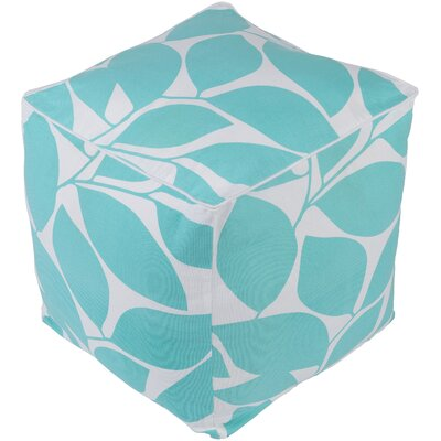 Deana Pouf Ottoman Upholstery: Blue/White