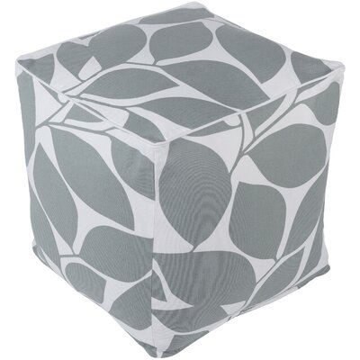 Deana Pouf Upholstery: Gray/White