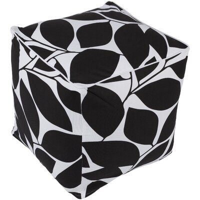 Deana Pouf Ottoman Upholstery: Black/White