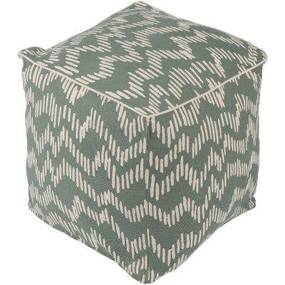 Deana Pouf Ottoman Upholstery: Green