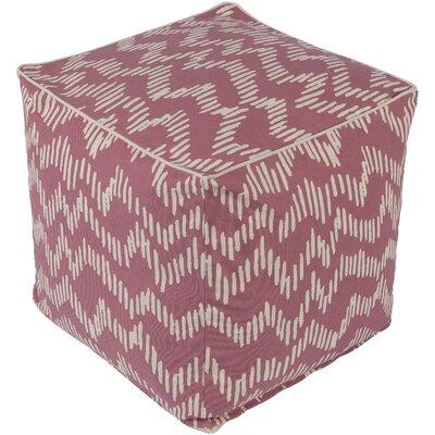 Deana Pouf Ottoman Upholstery: Pink