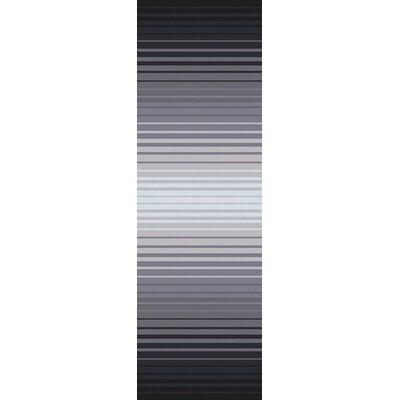 Eileen Hand-Loomed Charcoal/Gray Stripe Area Rug Rug Size: Runner 26 x 8