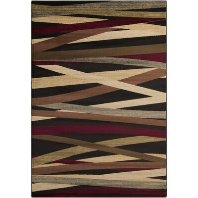 Douglasland Charcoal Area Rug Rug Size: Rectangle 66 x 98